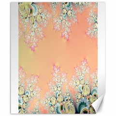 Peach Spring Frost On Flowers Fractal Canvas 20  X 24  (unframed) by Artist4God