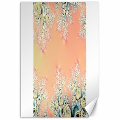 Peach Spring Frost On Flowers Fractal Canvas 20  X 30  (unframed)