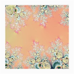 Peach Spring Frost On Flowers Fractal Glasses Cloth (medium, Two Sided)