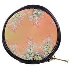 Peach Spring Frost On Flowers Fractal Mini Makeup Case