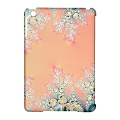 Peach Spring Frost On Flowers Fractal Apple Ipad Mini Hardshell Case (compatible With Smart Cover) by Artist4God