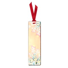 Peach Spring Frost On Flowers Fractal Small Bookmark by Artist4God