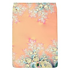 Peach Spring Frost On Flowers Fractal Removable Flap Cover (small) by Artist4God