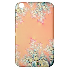 Peach Spring Frost On Flowers Fractal Samsung Galaxy Tab 3 (8 ) T3100 Hardshell Case  by Artist4God