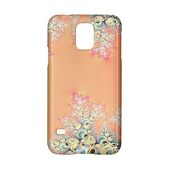 Peach Spring Frost On Flowers Fractal Samsung Galaxy S5 Hardshell Case  by Artist4God