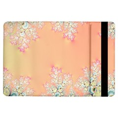 Peach Spring Frost On Flowers Fractal Apple Ipad Air Flip Case by Artist4God