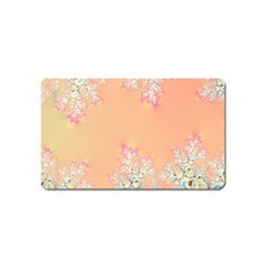 Peach Spring Frost On Flowers Fractal Magnet (name Card) by Artist4God