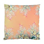 Peach Spring Frost On Flowers Fractal Cushion Case (Two Sided)  Back