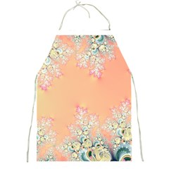 Peach Spring Frost On Flowers Fractal Apron by Artist4God