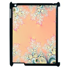 Peach Spring Frost On Flowers Fractal Apple Ipad 2 Case (black) by Artist4God