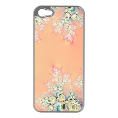 Peach Spring Frost On Flowers Fractal Apple Iphone 5 Case (silver)