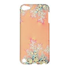Peach Spring Frost On Flowers Fractal Apple Ipod Touch 5 Hardshell Case by Artist4God