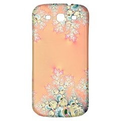 Peach Spring Frost On Flowers Fractal Samsung Galaxy S3 S Iii Classic Hardshell Back Case by Artist4God