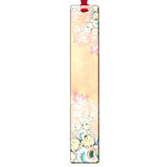 Peach Spring Frost On Flowers Fractal Large Bookmark by Artist4God