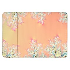 Peach Spring Frost On Flowers Fractal Samsung Galaxy Tab 8 9  P7300 Flip Case by Artist4God