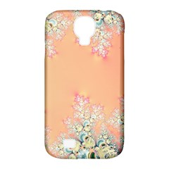 Peach Spring Frost On Flowers Fractal Samsung Galaxy S4 Classic Hardshell Case (pc+silicone)
