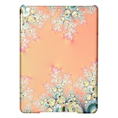 Peach Spring Frost On Flowers Fractal Apple Ipad Air Hardshell Case by Artist4God