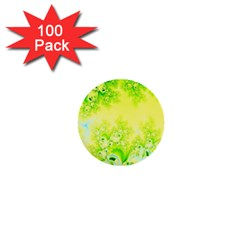 Sunny Spring Frost Fractal 1  Mini Button (100 Pack) by Artist4God