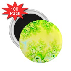 Sunny Spring Frost Fractal 2 25  Button Magnet (100 Pack) by Artist4God