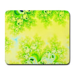 Sunny Spring Frost Fractal Large Mouse Pad (rectangle) by Artist4God