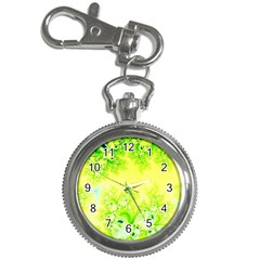 Sunny Spring Frost Fractal Key Chain Watch by Artist4God