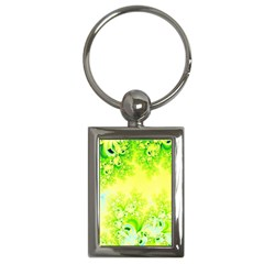 Sunny Spring Frost Fractal Key Chain (rectangle) by Artist4God