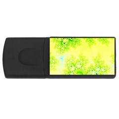 Sunny Spring Frost Fractal 4gb Usb Flash Drive (rectangle) by Artist4God