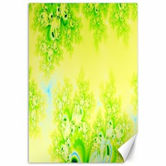 Sunny Spring Frost Fractal Canvas 12  X 18  (unframed) by Artist4God