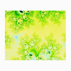 Sunny Spring Frost Fractal Glasses Cloth (small, Two Sided) by Artist4God