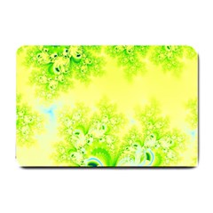 Sunny Spring Frost Fractal Small Door Mat by Artist4God