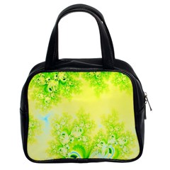 Sunny Spring Frost Fractal Classic Handbag (two Sides) by Artist4God
