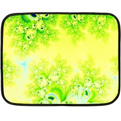 Sunny Spring Frost Fractal Mini Fleece Blanket (two Sided) by Artist4God