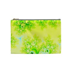 Sunny Spring Frost Fractal Cosmetic Bag (medium)