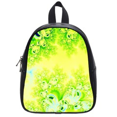 Sunny Spring Frost Fractal School Bag (small) by Artist4God