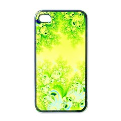 Sunny Spring Frost Fractal Apple Iphone 4 Case (black) by Artist4God