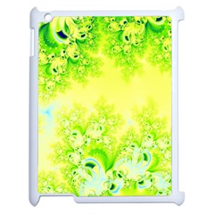 Sunny Spring Frost Fractal Apple Ipad 2 Case (white) by Artist4God