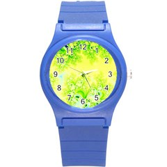Sunny Spring Frost Fractal Plastic Sport Watch (small) by Artist4God