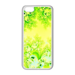 Sunny Spring Frost Fractal Apple Iphone 5c Seamless Case (white) by Artist4God