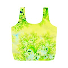 Sunny Spring Frost Fractal Reusable Bag (m) by Artist4God