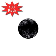 Midnight Frost Fractal 1  Mini Button Magnet (100 Pack) by Artist4God