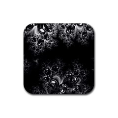 Midnight Frost Fractal Drink Coaster (square) by Artist4God