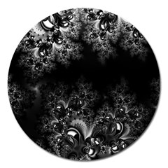 Midnight Frost Fractal Magnet 5  (round) by Artist4God