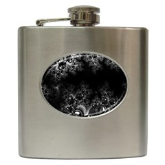 Midnight Frost Fractal Hip Flask by Artist4God