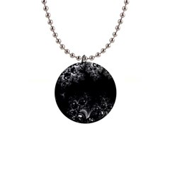 Midnight Frost Fractal Button Necklace by Artist4God