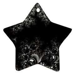 Midnight Frost Fractal Star Ornament (two Sides) by Artist4God