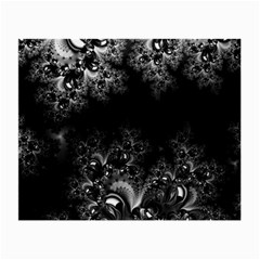 Midnight Frost Fractal Glasses Cloth (small, Two Sided) by Artist4God