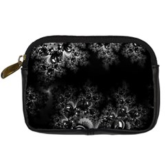 Midnight Frost Fractal Digital Camera Leather Case by Artist4God