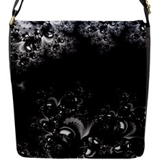 Midnight Frost Fractal Flap Closure Messenger Bag (small) by Artist4God