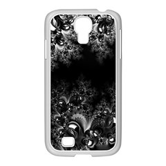 Midnight Frost Fractal Samsung Galaxy S4 I9500/ I9505 Case (white) by Artist4God