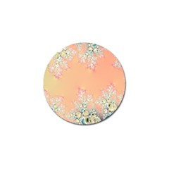 Peach Spring Frost On Flowers Fractal Golf Ball Marker by Artist4God